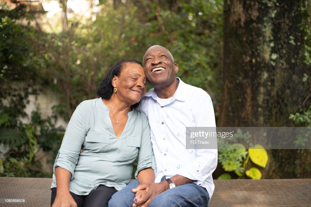 Afro active senior together : Stock Photo