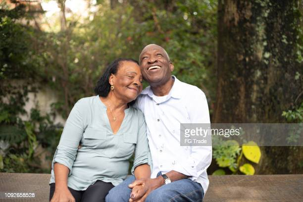 afro active senior together - contemplation couple stock pictures, royalty-free photos & images