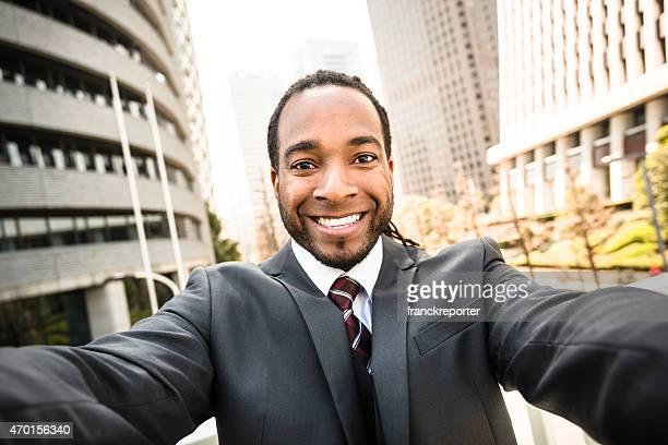 Afro Business man take on Tokyo