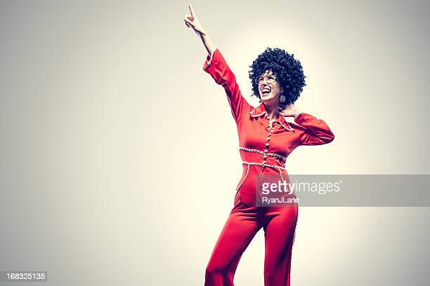 Afro Disco Dancer with Jumpsuit