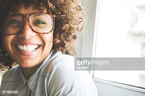 Afro hair girl portrait