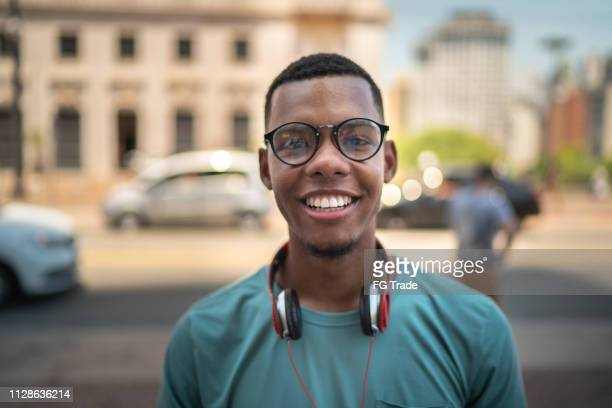 afro young hipster in the city portrait - 20 24 years stock pictures, royalty-free photos & images