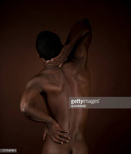 Afro-american man back