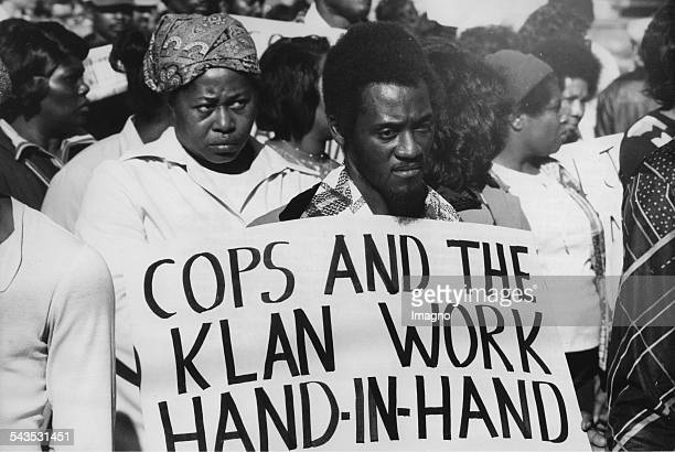 AfroAmericans protesting against the Ku Klux Klan USA 9th May 1979