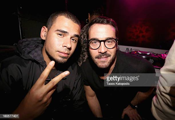 Afrojack and actor Jeremy Piven attend The Maxim Party With Gears of War Judgment For XBOX 360 FOX Sports Starter Presented by Patron Tequila at...