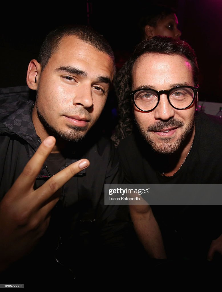 DJ Afrojack and actor Jeremy Piven attend The Maxim Party With 'Gears of War: Judgment' For XBOX 360, FOX Sports & Starter Presented by Patron Tequila at Second Line Warehouse on February 1, 2013 in New Orleans, Louisiana.