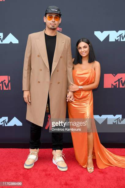 Afrojack and Elettra Lamborghini attend the 2019 MTV Video Music Awards at Prudential Center on August 26, 2019 in Newark, New Jersey.