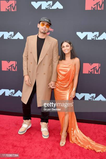 Afrojack and Elettra Lamborghini attend the 2019 MTV Video Music Awards at Prudential Center on August 26 2019 in Newark New Jersey