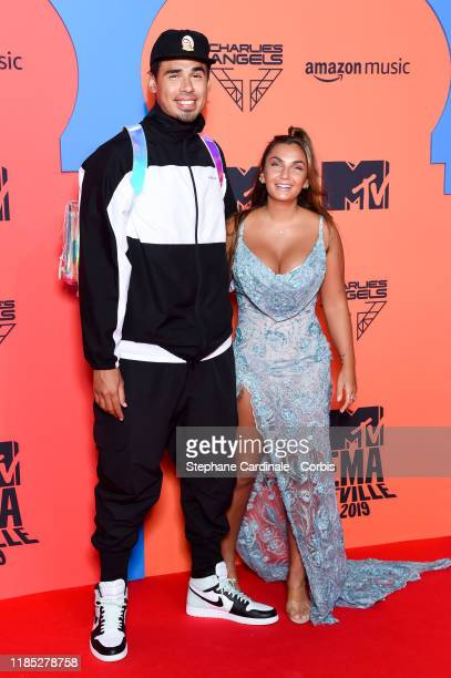Afrojack and Elettra Miura Lamborghini attend the MTV EMAs 2019 at FIBES Conference and Exhibition Centre on November 03 2019 in Seville Spain