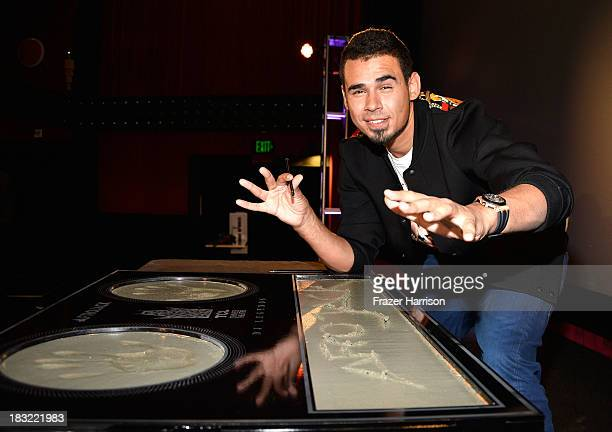 Afrojack Nick van de Wall Immortalized With Hand And Footprint Ceremony At The TCL Chinese at TCL Chinese Theatre on October 5 2013 in Hollywood...