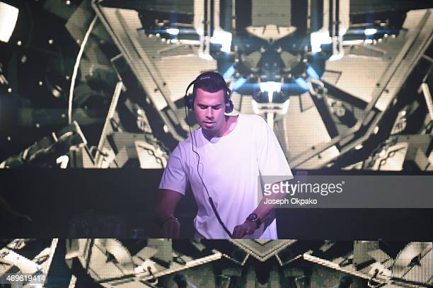Afrojack performs at Electric Brixton on April 5 2015 in London United Kingdom
