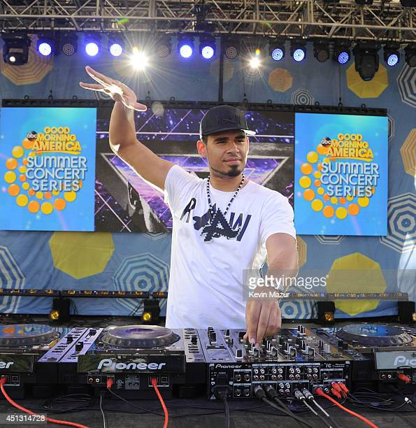 Afrojack performs on ABC's Good Morning America at Rumsey Playfield on June 27 2014 in New York City