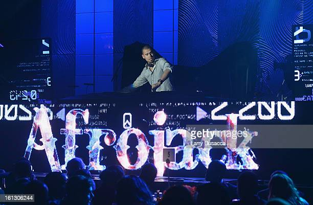 Afrojack performs onstage at the 55th Annual GRAMMY Awards PreGRAMMY Gala and Salute to Industry Icons honoring LA Reid held at The Beverly Hilton on...