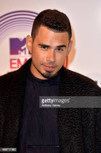 Afrojack poses in the winners room at the MTV EMA's 2014 at The Hydro on November 9 2014 in Glasgow Scotland