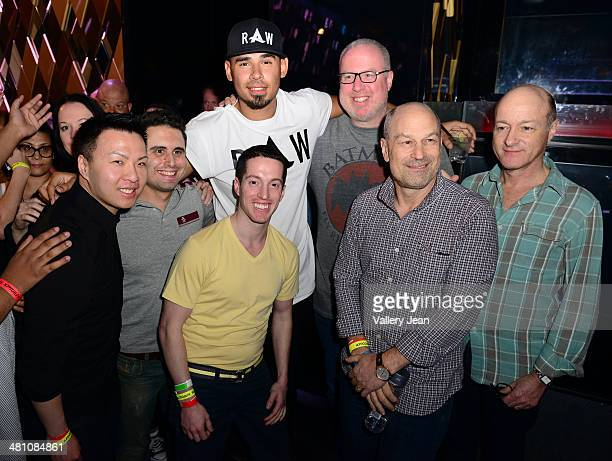 """Afrojack, Steve Barrels, Barry Weiss and David Massey attend a Private Listening Event for his Debut Album """"Forget The World"""" at W Hotel on March 27,..."""