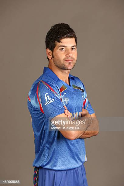 Afsar Zazai poses during the Afghanistan 2015 ICC Cricket World Cup Headshots Session at the Intercontinental on February 7 2015 in Adelaide Australia
