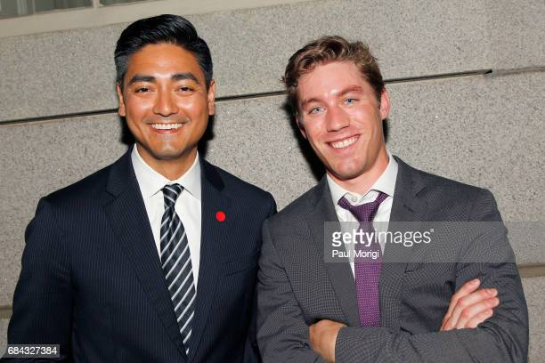 Aftab Pureval and Jens Sutmoller attend the Washington DC Screening of 'War Machine' at Landmark E Street Cinema on May 17 2017 in Washington DC