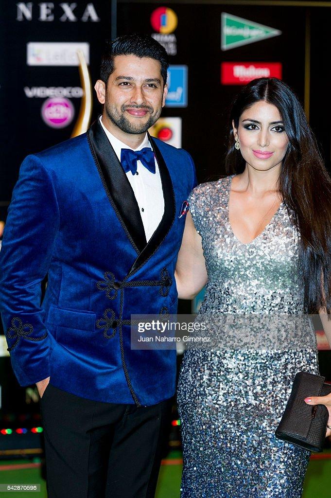 Aftab Shivdasani (L) attends IIFA Awards 2016 - Rocks Green Carpet at Ifema on June 24, 2016 in Madrid, Spain.