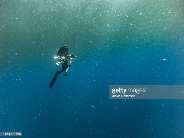 After 15 minutes of diving at 100m depth divers must spent approximately three hours of decompression stops before going back to the surface on...