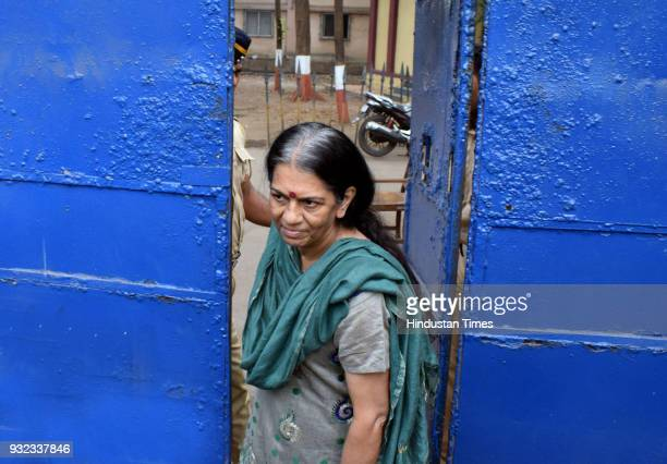After 40 days in prison India's first woman detective 65yearold Rajani Pandit released from Thane Jail on Judiciary Bail on March 14 2018 in Mumbai...
