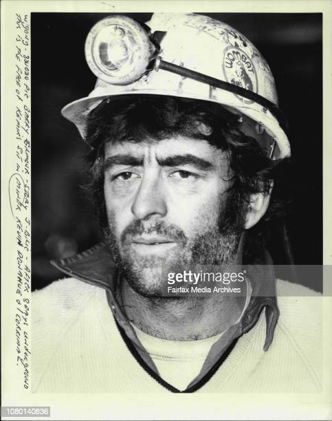 After 8 days underground this is the face of Kemir's sit in miner Kevin Donahue Corrimal October 20 1982