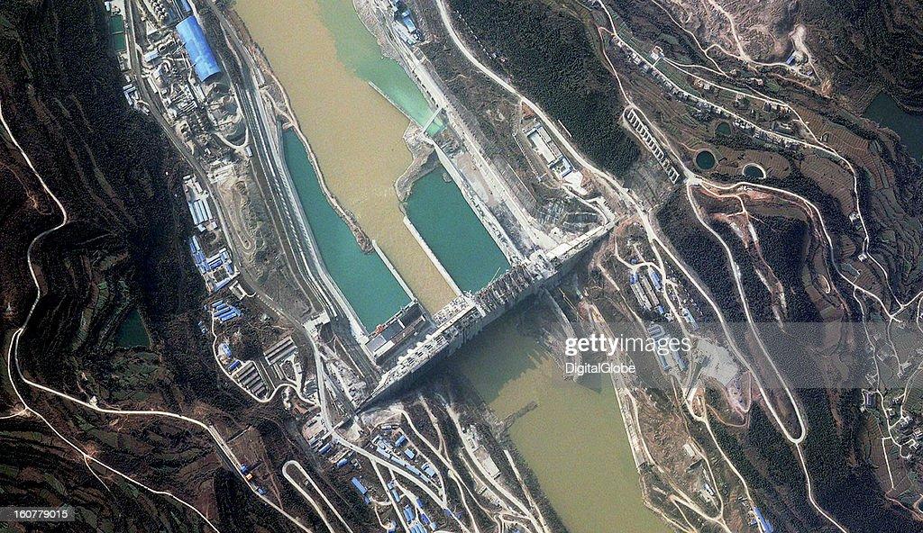Taingzikou Dam nearly complete, China : News Photo