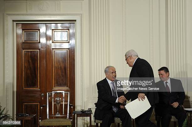 After a day of individual bilateral meetings with President Mahmoud Abbas of the Palestinian Authority Prime Minister Benjamin Netanyahu of Isreal...