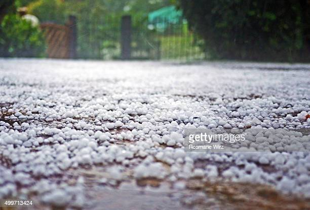 after a hailstorm - hail stock pictures, royalty-free photos & images
