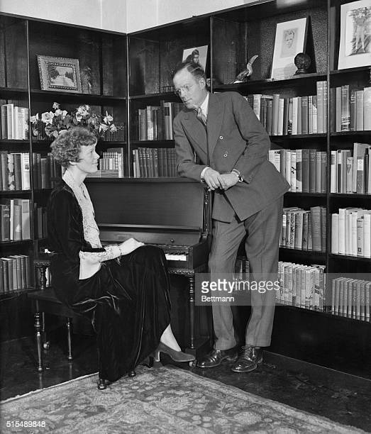 After a honeymoon of but two days, Mr. And Mrs. George Palmer Putnam returned to work. Mrs. Putnam is the former Amelia Earhart, famous transatlantic...