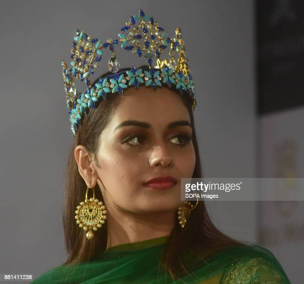 After a long 17 years India won Miss World pageant Miss World 2017 winner 'Manushi Chhillar' attend the press conference in Mumbai when she return...