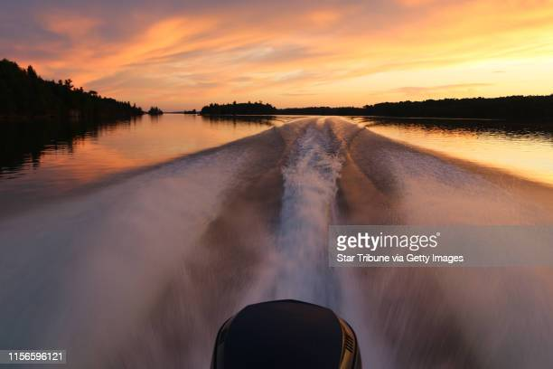 After a long day's fishing on Lake of the Woods near Big Narrows which lies about halfway between Minnesota's Northwest Angle and Kenora Ontario the...
