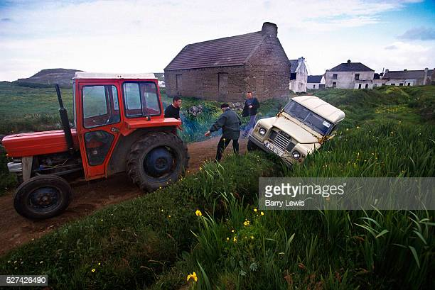 After a midsummer Ceilidh a car gets well stuck There are very few cars on Tory Island and no breathalisers Tory Island is about 15 miles from...