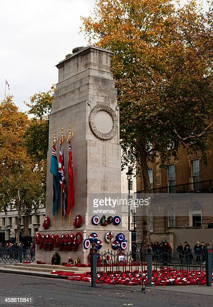 after a service at the cenotaph, whitehall - whitehall london stock photos and pictures