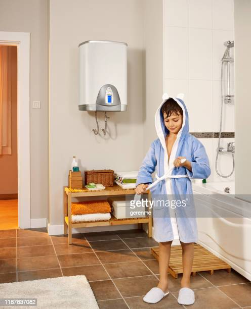 after a shower - boiler stock pictures, royalty-free photos & images