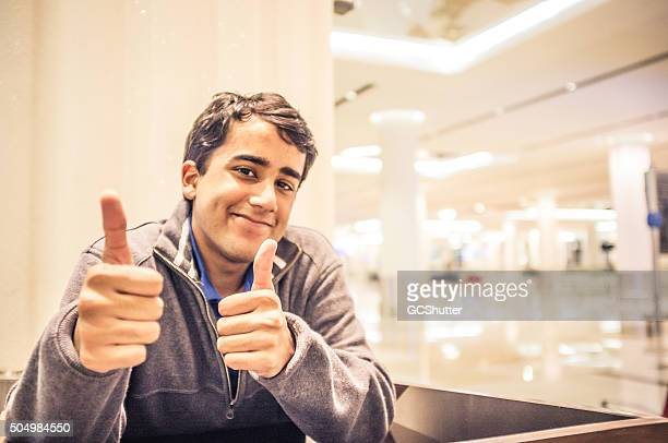After a Successful Speech - Success - Thumbs Up