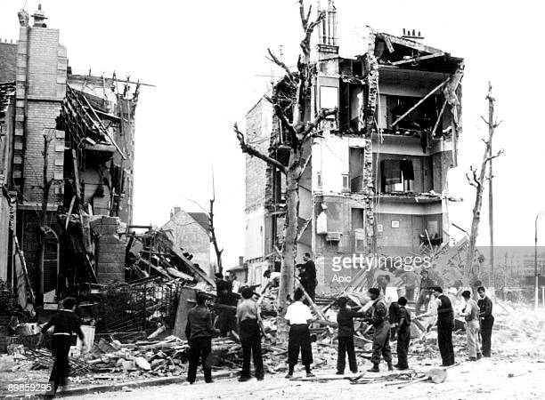 After Allied bombings by Royal Airforce on Boulogne Billancourt march 3, 1942