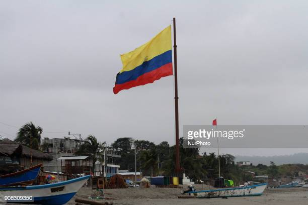 After almost 2 years of the devastating earthquake that struck the Ecuadorian coasts the people of the Pedernales beach Ecuador on 21 January 2018 do...