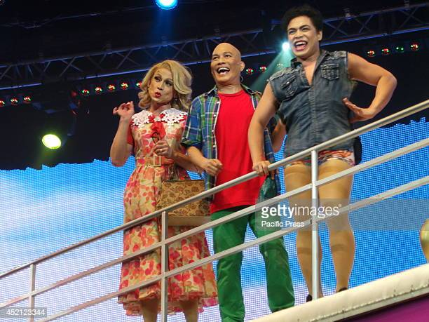 After almost two months of successful play dates Priscilla Queen of the Desert the musical top billed by Jon Santos Leo Valdez and Red Concepcion...