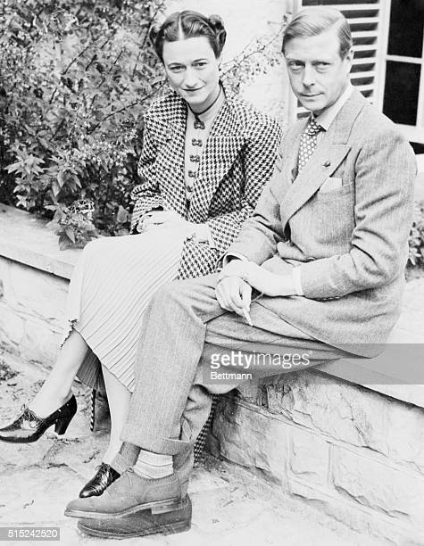 After an absence from England of nearly three years the Duke of Windsor is pictured above on his return to his homeland with his Americanborn Duchess...