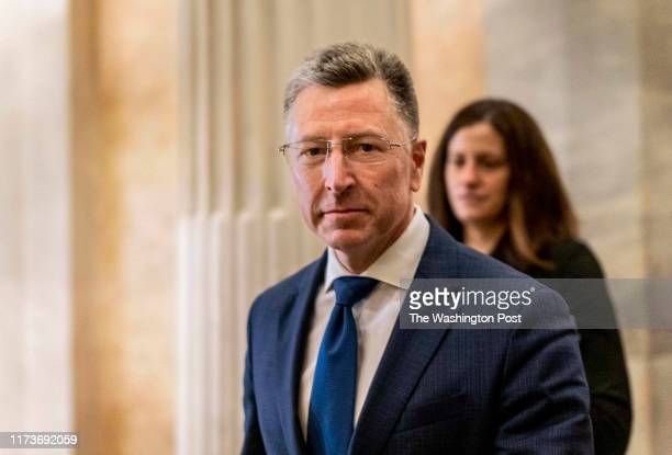 After an allday deposition behind closed doors with the House Intelligence Committee former United States envoy to the Ukraine Kurt Volker departs...