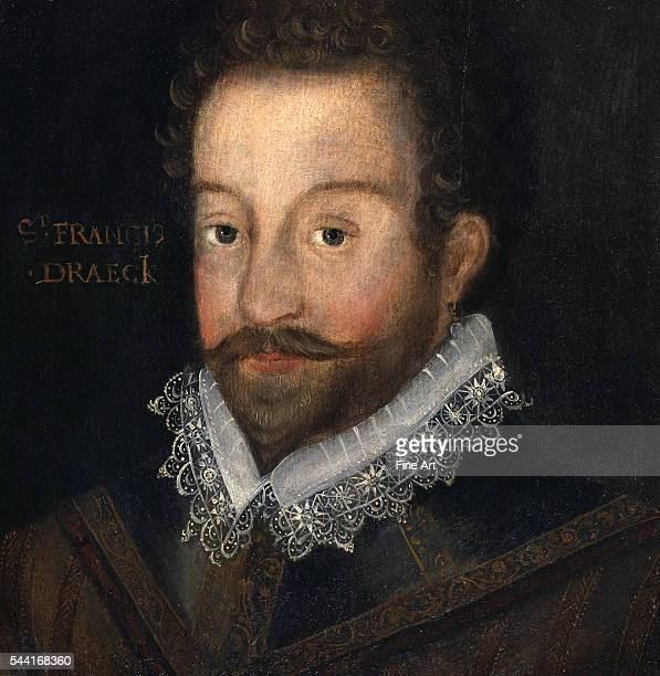After an engraving attributed to Jodocus Hondius Circa 1583 Oil on panel 12 1/2 x 12 3/8 inchesl Located in the National Portrait Gallery London...