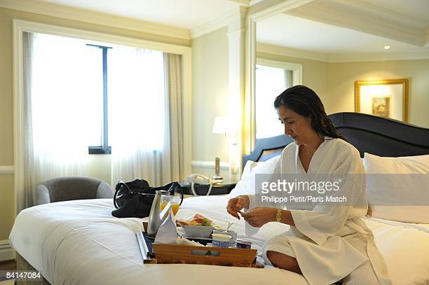 After an overnight flight to Brazil, Ingrid Betancourt has a few hours rest at her hotel before going to meet Brasilian president Lula on December 5,...