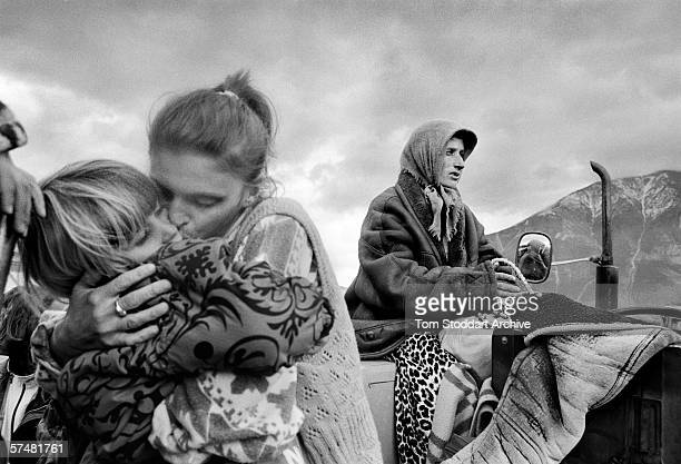 After arriving from Kosovo at a refugee camp in Kukes Albania a family separated on the road by Serb forces is reunited 15 million Kosovo Alabanians...