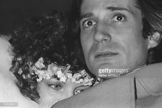 After being married in West Berlin Romy Schneider and Daniel Biasini arrived at the airport in Roissy on December 18 1975