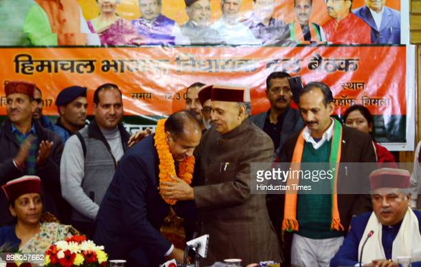 After BJP announces the Himachal Pradesh chief minister name former chief minister Prem Kumar Dhumal congratulate him and give blessings to elected...
