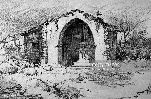 After bombing. Sketch in the collection of personal memories of the painter watercolourist and Italian illustrator Gerolamo Bartoletti , from Arona...