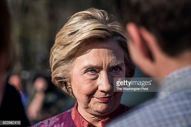 CHAPPAQUA NY After casting her vote on New York state primary day former Secretary of State Hillary Clinton along with her husband President Bill...