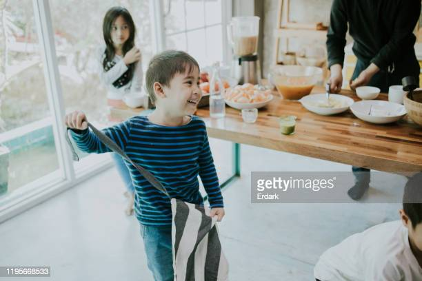 after cooking class while doing juice - kitchen after party stock pictures, royalty-free photos & images