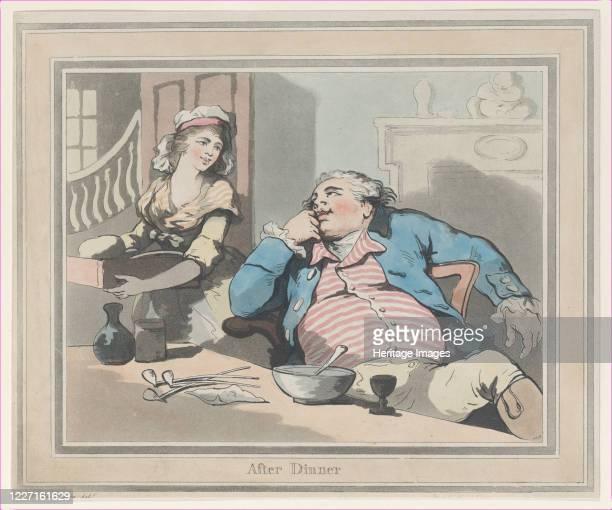 After Dinner 1790 Artist Thomas Rowlandson