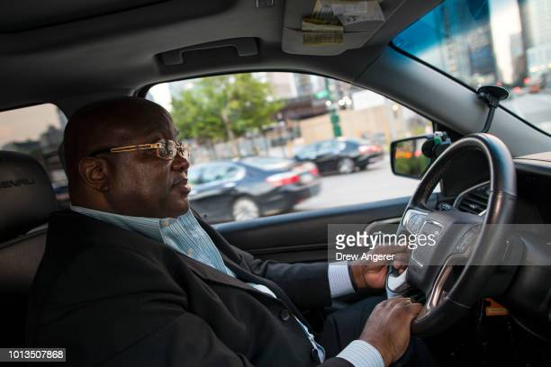 After dropping off passengers at a Broadway play Johan Nijman a forhire driver who runs his own service and also drives for Uber on the side drives...